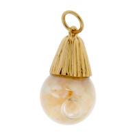 Vintage Floating Opal 14k Gold Charm