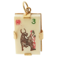 Vintage Mahjong #3 14k Gold Charm
