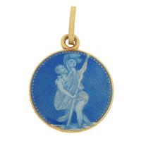 Vintage Saint Christopher 18K Gold Charm