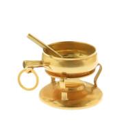 Vintage Fondue Pot 18k Gold Charm