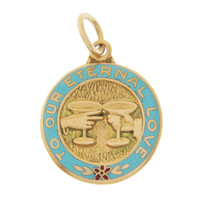 Vintage To Our Eternal Love 14k Gold Charm