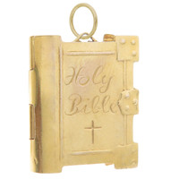 Vintage Bible With Book Inside 9k Gold Charm