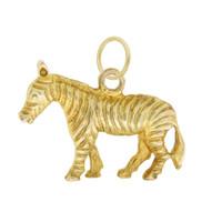 Vintage Zebra 9k Gold Charm