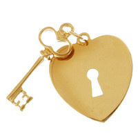 Key To Your Heart 14k Gold Charm