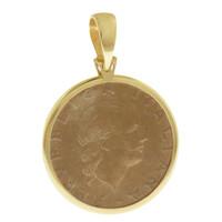 Vintage Italian Lire 14k Gold Charm