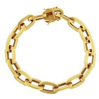 Vintage Oval Oblong 14k Gold Charm Bracelet
