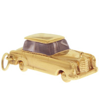 Vintage Mercedes Car 14k Gold Charm