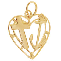 Love Hope Charity 14K Gold Charm