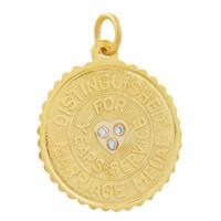 Vintage Distinguished Marriage Medal 14k Gold Charm