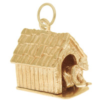 Vintage Man in the Dog House 14k Gold Charm