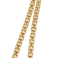 Vintage Buckle Link 14k Gold Charm Necklace