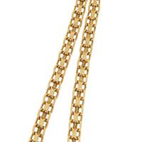 Vintage Buckle Link 14k Gold Charm Necklace