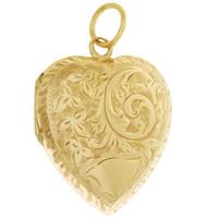 Vintage Intricate Locket 9K Gold Charm