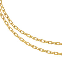"""Lydia"" Classic Oblong 14k Gold Charm Necklace"