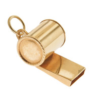 Vintage Whistle 14k Gold Charm