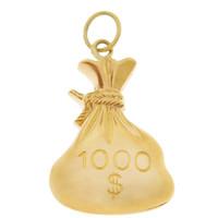 Vintage $1000 Money Bag 14k Gold Charm