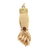 Vintage Gold Figa with Diamonds Rose & Yellow Gold Charm
