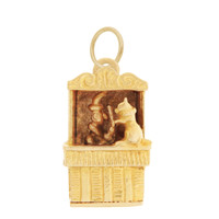 Vintage Movable Punch & Judy 9k Gold Charm