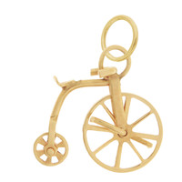 Vintage Penny Farthing 14k Gold Charm