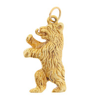 Vintage Large Berlin Bear 18k Gold Charm