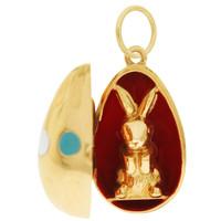 Vintage Easter Egg 14k Gold Charm