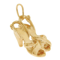 Vintage Open Toe Sandals 14k Gold Charm