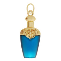 Vintage Celluloid Perfume Bottle 14k Gold Charm