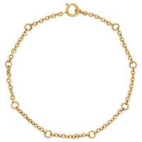 Vintage Petite Cable 14k Gold Bracelet