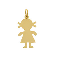 Little Girl 14k Gold Charm