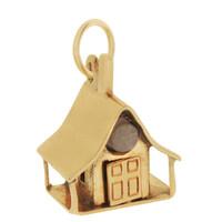 Vintage Chalet House 14k Gold Charm