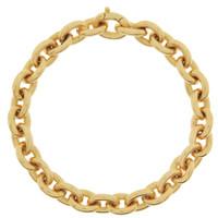 Vintage Heavy Cable  14k Gold Charm Bracelet