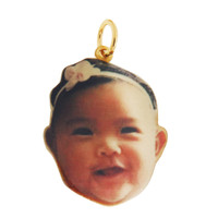Custom Baby Photo 14K Gold Charm