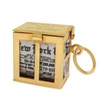 Vintage New York Times 14k Gold Charm