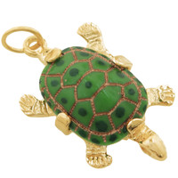 Limited Edition Turtle 14k Gold Charm
