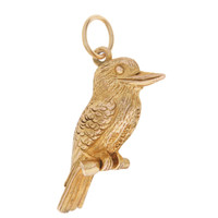 Vintage Kingfisher 9k Gold Charm