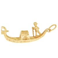 Large Venice Gondola 14K Gold Charm