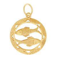 Vintage Pisces 18k Gold Charm