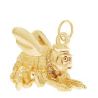 Vintage 'Killer Bee' 14K Gold Charm