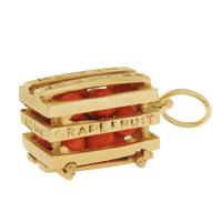 Vintage Citrus Crate 14K Gold Charm