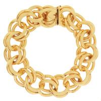 Vintage Lux Double Link with Heart Clasp 14K Gold Bracelet