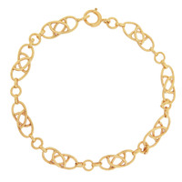 Vintage Knot Link 14K Gold Bracelet