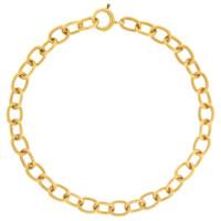 Vintage Oval Link 14K Gold Bracelet