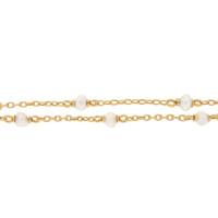 Vintage Pearl Set 14k Gold Charm Necklace