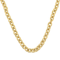 Vintage Heavy Cable Link 14K Gold Necklace