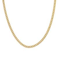 Vintage Curb Link 14K Gold Charm Necklace