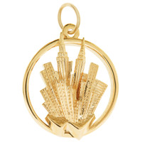 Limited Edition New York City Skyline 14K Gold Charm