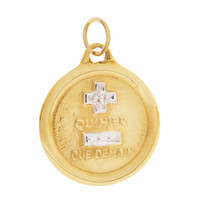 Vintage French Love Poem 14K Gold Charm