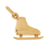 Vintage Ice Skate 14K Gold Charm