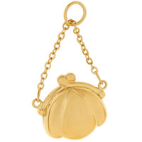 Vintage Purse with Handle 14K Gold Charm