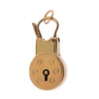 Vintage Round Lock 9K Gold Charm